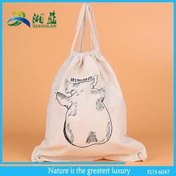 customized print canvas drawstring bag professional manufacture