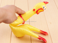Wholesale Rubber Squeaky Chicken Dog Toy Funny Pet Toy PT046