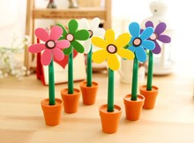 Promotioanl novelty flower & Pot shape ballpoint pen