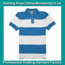 OEM Service Good Quality Pique Polo / Fashion Whole Stripe Polo Shirt / Chinese Low Price Polo T Shirts Manufacturing Company