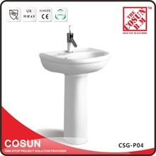 Ceramic Hand Wash Pedestal Basin For Bathroom