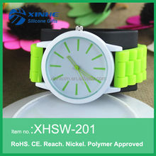 2015 Unisex plastic case silicone wristband watch silicone,cheap promotion silicone vogue watch