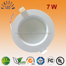 7W round led downlight for Living Room/Dining Room
