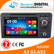 AUD-6301GD with gps navigation Rear review Line/Ipod touch screen car dvd For A3