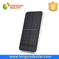 With frosted outershell touch switch dual usb 12000mah solar cell phone charger