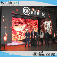 High brightness 3.9mm full color LED video wall for stage backgroud