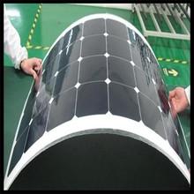 100w 18V mono semi-flexible solar panel for car