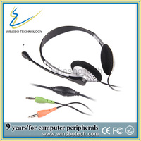 long wire headset custom branded wired headphones with mic