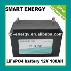 12V 100AH rechargable battery for solar/wind energy