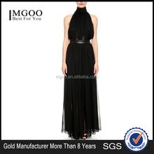 MGOO Custom Design China Factory Made Black Maxi Dress Cheap Elegant Long Evening Dresses Chiffon Lady Dress 2015 #25106008