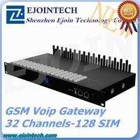 32 port gsm voip gateway with gsm sim bank, bulk sms sending device, 8 ports 64 sim cards gsm gateway
