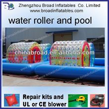 PVC or TPU 2.4x2.2m inflatable water roller, water roller,water roller ball price