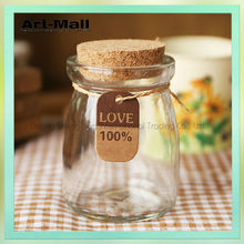 New Products Promotional wholesale clear mini glass bottles corks