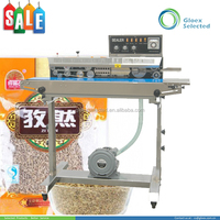 Paper Pouch automatic new design band cheap continuous band sealer machine with ink print code