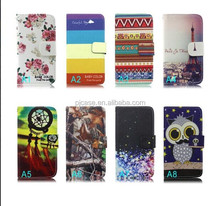 Hot selling leather case fornokia Lumia 208 flip cover leather case