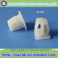 Zhixia manufacturer auto small automotive fastener plastic clips/white plastic clip