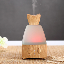 Wooden temple home decoration wood and glass aromatherapy nebulizer diffuser