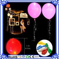 EN71 high quality custom logo printing advertising inflatable latex balloon , led balloon , led lights