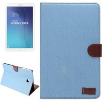 Paypal acceptable Denim Texture Leather Case for Samsung Galaxy Tab E 9.6 / T560 tablet case