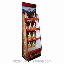 Supermarket Rack Type and Paperboard,paper,cardboard,corrugated Material supermarket display shelf