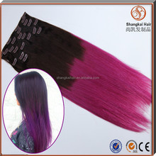 Wholesale Genuine Human Hair Clip In Hair Extensions