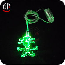 Ce,Rohs Approval Body Blinking Led Necklace Halloween