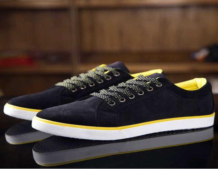 Новый 2015 человек квартиры мужской кружева-up хлопок британский стиль обуви холст смешанные цвета мужской обуви размер Большой размер 39 - 44 XMR214