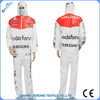 colorful OEM printing sportwear waterproof and breathable disposable protective clothing