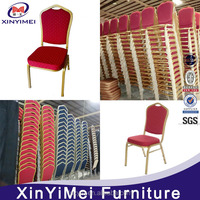 Foshan furniture used aluminum hotel banquet chair