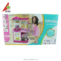 Simulation kitchen toy cheap kids plastic toy mini kitchen play set toy for girl