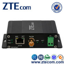 10/100Base-TX Ethernet Over Coaxial EoC Converter with PoE+ & PoC