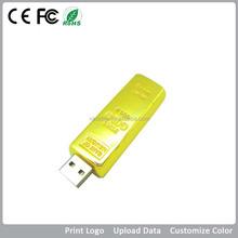 Gold Bar 32GB Usb Flash Drive Bulk Cheap with Custom Laser Engraved Logo