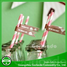 Wedding & Gift Use and Artificial Style drinking paper straws