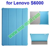 Official Style 4 Floding Leather Smart Cover Case for Lenovo S6000