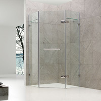 Exclusive curved hinge made by stainless frameless hinge shower door shower cubicles and trays