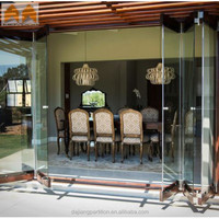 Custom Clear Glass Movable Partition Door for Home