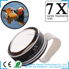 Universal 7x Super Telephoto Detachable Clip on Camera Lens for iPhone 6 6 Plus Samsung HTC Motorola LG and other Mobile Phone
