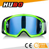 top quality fluo green soft TPU frame PC lens mx goggles for motocross racing