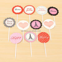 10Pcs/Bag Lovely Cake Inserted Card Party Birthday Supplies Baking Tools Cupcake Inserting Accessories New