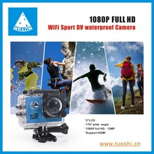 MicroSD / TF Memory Card Type and Non Built-in Memory sports camera 1080p ,wifi and waterproof