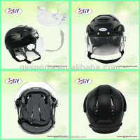 Lowest wholesales price 100% PP Ice hockey player helmet with visor