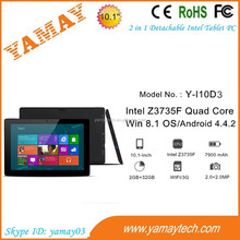 touch tablet pc software free download 10.1 inch OEM/ODM intel win8 ips wholesale detachable tablet computer notebook
