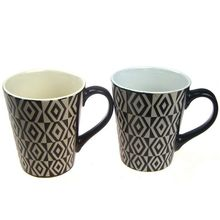 HG Homeart Genuine creative hand-painted window lattice fashion personality Mark cup ceramic coffee cup business gifts wholesale