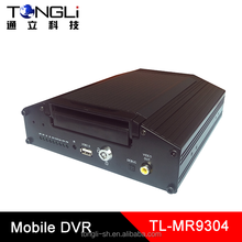 Vehicle Mobile DVR 4 Channels recording with D1 Resolution, Supports Both SD & HDD storage