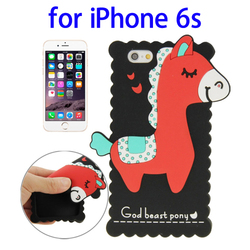 Hot Products Cute 3D Pony Pattern Silicone Silicone Case for iPhone 6s