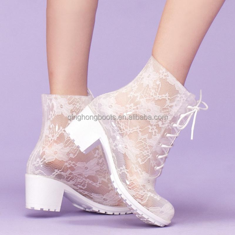 Lastest New Ladies Clear Womens Festival Jelly Wellington Rain Boots Shoes