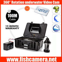 360 degree 100m camera for underwater wells