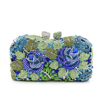 China manufacturer full crystal evening clutch bags
