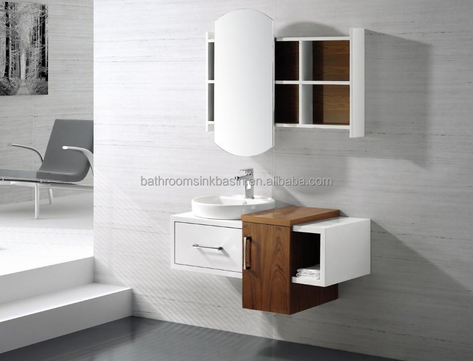 Simples moderno PVC armário de banheiro vaidade VT2564Outros móveis para ba -> Armario Aereo Banheiro Madeira