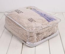 custom printed plastic pvc duvet quilt bag clear loop handle factory direct sale